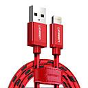 hesapli Frizbi & Bumerang-Yıldırım USB Kablo Adaptörü Örgülü Kablo Uyumluluk iPad / iPhone 200 cm Uyumluluk Naylon