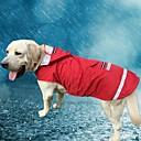 tanie Ubranka i akcesoria dla psów-Kot Psy Bluza z Kapturem Płaszcz przeciwdeszczowy Ubrania dla psów Solidne kolory Czerwony Niebieski Oksford Terylen Kostium Na Wiosna i jesień Lato Męskie Damskie Codzienne Wodoodporny