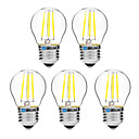 cheap LED Filament Bulbs-BRELONG® 5pcs 4W 300lm E27 LED Filament Bulbs G45 4 LED Beads COB Dimmable Warm White White 200-240V