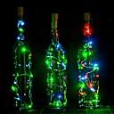 hesapli Yenilikçi LED Işıklar-2 m led garland bakır tel corker dize peri ışıkları cam zanaat şişe için yeni yıl / noel / sevgililer düğün dekorasyon