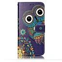billige Etuier / covers til Galaxy S-modellerne-Etui Til Samsung Galaxy S8 Plus / S8 Pung / Kortholder / Med stativ Fuldt etui Ugle Hårdt PU Læder for S8 Plus / S8 / S7 edge
