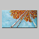 halpa Sisustustarrat-Hang-Painted öljymaalaus Maalattu - Kukkakuvio / Kasvitiede Abstrakti Moderni Ilman Inner Frame