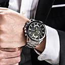 levne PS3 příslušenství-Pánské Náramkové hodinky japonština Nerez Černá / Stříbro / Zlatá 30 m Voděodolné Kalendář kreativita Analogové dámy Přívěšky Luxus Klasické Na běžné nošení - Stříbrná Černá / červená Černá / Bílá