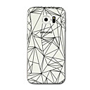 Buy Samsung Galaxy S7 S8 Case Cover Transparent Pattern Back Lines / Waves Geometric Soft TPU S5 edge S6