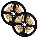 billige LED-kolbepærer-HKV 10 m Fleksible LED-lysstriber 300 lysdioder 5630 SMD Varm hvid / Hvid Chippable / Koblingsbar / Selvklæbende 12 V