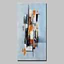 お買い得  ヘッドセット、ヘッドホン-ハング塗装油絵 手描きの - 抽象画 抽象画 近代の インナーフレームなし / ローリングキャンバス