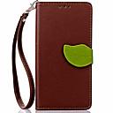 ieftine Carcase / Huse de Huawei-Maska Pentru Huawei P8 Huawei Huawei P8 Lite Titluar Card Portofel Cu Stand Întoarce Carcasă Telefon Culoare solidă Greu PU piele pentru