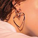 رخيصةأون قلائد-للمرأة أقراط قطرة - قلب موضة, euramerican في ذهبي / فضي / ذهبي روزي من أجل يوميا / فضفاض