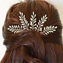hesapli Kolyeler-Avrupa ve Amerika Birleşik Devletleri dış ticaret hareketi rolü tadını çıkarın sözleşmeli şaka moda saç gelin el yapımı inci yaprak saç