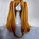 ieftine Imbracaminte & Accesorii Căței-Peruci Sintetice / Peruci de Costum Drept Stil Cu Codițe Fără calotă Perucă Blond Portocaliu Păr Sintetic Pentru femei Perucă Împletită / Împletituri Franțuzești Blond Perucă Lung hairjoy Peruc
