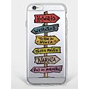 رخيصةأون أغطية أيفون-غطاء من أجل Apple iPhone 7 Plus iPhone 7 نموذج غطاء خلفي جملة / كلمة ناعم TPU إلى iPhone 7 Plus iPhone 7 iPhone 6s Plus ايفون 6s iPhone 6