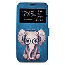 preiswerte Smarte Uhren-Hülle Für Samsung Galaxy A5(2017) A3(2017) Kreditkartenfächer mit Halterung Muster Ganzkörper-Gehäuse Elefant Cartoon Design Hart PU-Leder