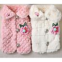 preiswerte Bekleidung & Accessoires für Hunde-Hund Mäntel Hundekleidung Blumen / Pflanzen Weiß / Rosa Synthetik Kostüm Für Haustiere Lässig / Alltäglich