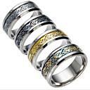 voordelige PS4-accessoires-Heren Kubieke Zirkonia Ringen voor stelletjes - Titanium Staal Modieus 6 / 7 / 8 Zwart / Zilver / Donkerblauw Voor Dagelijks