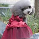 Недорогие Одежда и аксессуары для собак-Кошка Собака Платья Одежда для собак Стразы Темно-синий Красный Хлопок Костюм Для домашних животных Для вечеринки На каждый день Свадьба