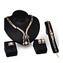 preiswerte Halsketten-Damen Schmuck-Set - Künstliche Perle, vergoldet Personalisiert, Modisch Einschließen Anhängerketten Gold Für Party