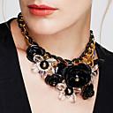 Недорогие Модные ожерелья-Жен. Кристалл переплетенный Ожерелья с подвесками Хрусталь Цветы Массивный Дамы Винтаж европейский Синий Розовый Темно-красный Ожерелье Бижутерия Назначение