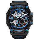 tanie Zegarki męskie-SMAEL Męskie Cyfrowe Zegarek cyfrowy Zegarek na nadgarstek Sportowy Alarm Wodoszczelny LED Dwie strefy czasowe Świecący Guma Pasmo