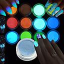preiswerte Make-up & Nagelpflege-1set / 12st / 12 Stück Acryl Pulver Glitzer 12 Farben Nagel Kunst Maniküre Pediküre Elegant & Luxuriös / Strahlend & Funkelnd / Fluoreszierend