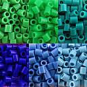 levne Korálky-cca 500ks / sáček 5mm pojistek korálky Hama korálky DIY puzzle eva materiál safty pro děti (Smíšený 6 barev, B25-B33)