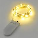 hesapli LED Şerit Işıklar-2m Dizili Işıklar 20 LED'ler Sıcak Beyaz / RGB / Beyaz Pil / IP65