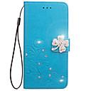 رخيصةأون أغطية أيفون-غطاء من أجل هواوي G7 / Huawei / هواوي P8 لايت P8 Lite (2017) / Huawei P8 Lite / Huawei Y5 II / Honor 5 محفظة / حامل البطاقات / حجر كريم غطاء كامل للجسم زهور قاسي جلد PU
