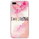 cheap iPhone Cases-Case For Apple iPhone 7 / iPhone 7 Plus Pattern Back Cover Word / Phrase Soft TPU for iPhone 7 Plus / iPhone 7 / iPhone 6s Plus