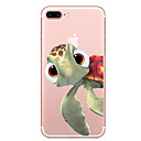 voordelige Galaxy S-serie hoesjes / covers-hoesje Voor Apple iPhone X iPhone 8 Transparant Patroon Achterkant dier Zacht TPU voor iPhone X iPhone 8 Plus iPhone 8 iPhone 7 Plus