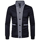 cheap Women's Watches-Men's Daily / Work Solid Colored Long Sleeve Regular Cardigan, V Neck Spring / Fall Navy Blue / Wine / Light gray L / XL / XXL