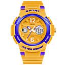 رخيصةأون الدرجات النارية وأجزاء السيارات-SMAEL رجالي ساعة رياضية ساعة رقمية رقمي جلد اصطناعي الأبيض / أزرق / البرتقال 50 m عرض ساخن تناظري-رقمي سحر - زهري الذهب / أبيض البحرية / أبيض