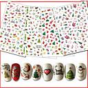 hesapli Makyaj ve Tırnak Bakımı-10pcs/set Noel Süsler / Çivi Çıkartması Nail Decals / Noel Tırnak Tasarımı Tasarımı
