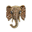 cheap Brooches-Brooches - Rhinestone, Silver Plated Elephant, Animal Personalized Brooch Gold / Silver For Gift / Stage
