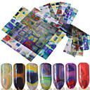 preiswerte Make-up & Nagelpflege-16 pcs 3D Nails Nagelaufkleber Nagel-DIY-Werkzeuge Aufkleber Nagel Kunst Maniküre Pediküre 3D Modisch Alltag / 3D Nagel Sticker