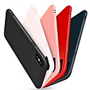 cheap Earrings-Case For Apple iPhone X iPhone X Frosted Back Cover Solid Color Soft Silicone for iPhone X