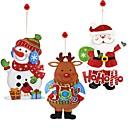 ieftine Decorațiuni de Casă-Decoratiuni de vacanta Om de Zăpadă / Santa / Vacanță Decals / Ornamente Nuntă 1 buc / Predbožićna