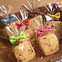 hesapli Makyaj ve Tırnak Bakımı-50 adet yay düğüm çerez çanta mühürleyen pişirme ekmek lolipop kek paketi çeşitli renk