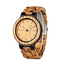 cheap Bracelets-Men's Quartz Wrist Watch Chinese Calendar / date / day / Chronograph / Water Resistant / Water Proof Wood Band Charm / Luxury / Casual /