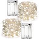 preiswerte LED Lichtstreifen-10m Leuchtgirlanden 100 LEDs Warmes Weiß / RGB / Weiß Wasserfest Batterie / IP65