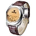 저렴한 남성용 시계-남성용 여성용 스포츠 시계 밀리터리 시계 스마트 시계 석영 달력 창조적 멋진 가죽 밴드 아날로그-디지털 참 사치 뱅글 블랙 / 화이트 / 브라운 - 화이트 블랙 커피 2 년 배터리 수명 / 큰 다이얼 / Maxell SR626SW