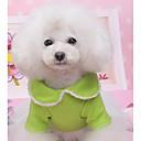Недорогие Рождественские костюмы для домашних животных-Собака Платья Одежда для собак Однотонный Красный / Зеленый Хлопок Костюм Для домашних животных Лето Муж. / Жен. На каждый день