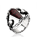 cheap Rings-Men's Ring - Stainless Steel, Titanium Steel Personalized, Fashion 7 / 8 / 9 / 10 / 11 Red For Halloween Daily Casual
