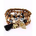 cheap Bracelets-Men's / Women's Strand Bracelet / Wrap Bracelet - Fashion Bracelet Beige / Coffee / Red For Evening Party / Stage