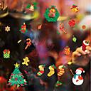 baratos Decoração de parede-Art Deco Natal Adesivo de Janela, PVC/Vinil Material Decoração de janela Sala de Jantar Sala de Estar
