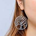 ieftine Cercei-Pentru femei Cercei Picătură Copacul Vieții viață copac Vintage Modă cercei Bijuterii Argintiu Pentru Casual