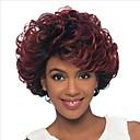 preiswerte Make-up & Nagelpflege-Kinky Curly Synthetische Haare Gefärbte Haarspitzen (Ombré Hair) Rot Perücke Damen Kurz Kappenlos