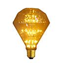 رخيصةأون أضواء شموغ LED-1PC 3W 300lm E26 / E27 مصابيحLED G95 47 الخرز LED COB نجمي ديكور أبيض دافئ 220-240V