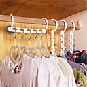 hesapli Saklama ve Organizasyon-Ev plastik yerden tasarruf kaymaz askıları İşlevli kat elbise askısı sihirli askı yararlı