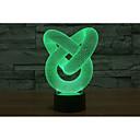 preiswerte Uhren-1 set 3D Nachtlicht USB / Batterie Dekorativ / Farbwechsel Künstlerisch / LED / Modern / Zeitgenössisch