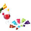 hesapli Bar Gereçleri ve Açıcılar-7 adet sevimli sincap şarap şişesi stopper silikon içecek cam bardak İşaretleyiciler tanıyıcı etiketleri