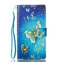 Недорогие Серьги-Кейс для Назначение Sony Бумажник для карт Кошелек со стендом Флип Магнитный С узором Чехол Бабочка Твердый Кожа PU для Sony Xperia L1